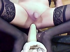 Fucking My Bitch Ass With Big Black Monster Dildos