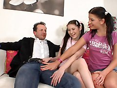 Teacher And 2 Female Teen Students