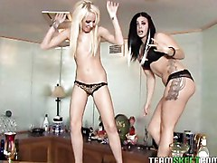 Two Kinky Party Chicks Share Everything