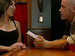 Busty Waitress Punishes And Fucks