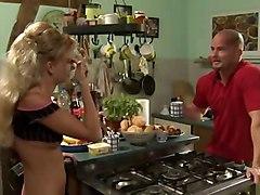 Blond German In Kitchen