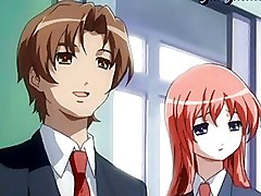 Anime Redhead Shemale Masturbating Her Cock