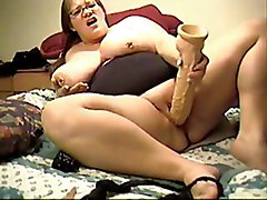 Bbw With Huge Dildo On Cam