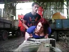 Amateur Redhead Fucked By Her Man Outdoors