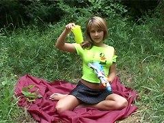 Teen With A Gun Toy