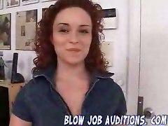 Redhead Girl Shows Her Blowjob Skills