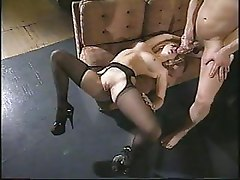 Jessica Darling In Black Suspender Pantyhose