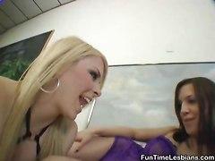Two Hotties Explore The Pleasures Of Strapon