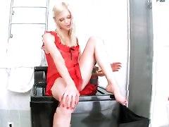 Hottest Petite Brunette Irina Ann Masturbates