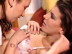 Horny Maid Pleases A Burning Lesbi