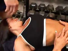 Kristina Madison-threesome In The Gym-