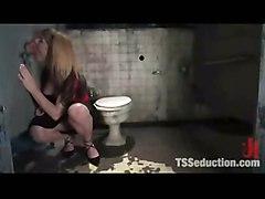 Tranny Fucks Boy In Toilet!