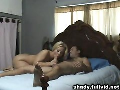 Cheating Blonde Blowjob