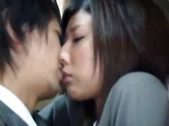 The Japanese Woman&039;s Tenderness-in The Inside Of A Bus