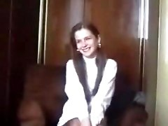 Shy Latvian Virgin Is Seduced On Camera. Part 1