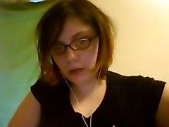 Emo Nerd On Webcam