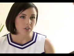 Pretty Cheerleader Pleases A Guy