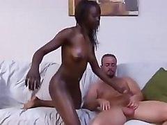 Super Dark Black Girl Fucks White Boy