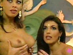 Lesbo Photoshoot Turns Into Jacuzzi Orgy