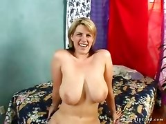 Blonde Milf With Dangling Tits For Ebony Stud