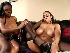 Horny Ebony Sluts In Action