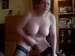 Home Made. Kinky Wife Masturbates Standing