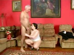 Plump Girl With An Older Man