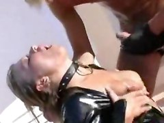 Blonde In Latex Outdoor Fuck