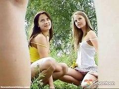 3 Teen Girls Shoing Off Their Bodies