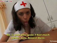 Shemale Nurse Has Hardcore With Dude