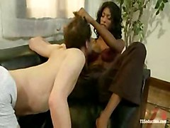Bad Student Punished By Sexy Ebony Shemale.flv