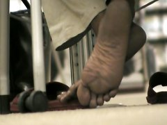 Teacher Feet In Library