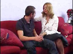 Chubby Milf Gives Head Before Cock Fucking