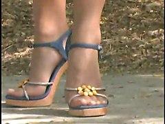 Linda Trans Foot Tease