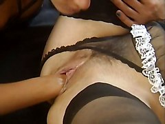 Shaved Head Woman Fist Fucking