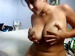 Chubby Girlfriend Masturbates