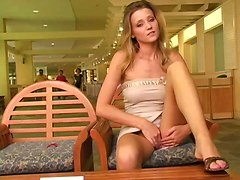 She Flashes Her Pussy In Public!