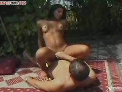Hard Dick For Brunette Shemale