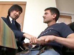 Dirty Student Plays With Teacher!