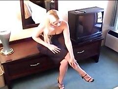 Sexy Blonde Girl Flashing