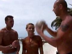 Groupsex On The Beach
