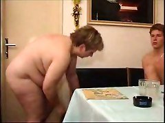 Plump Mature Takes Care Of Lucky Dude