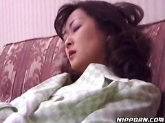 Asian In Business Suit Playing With Her Pussy