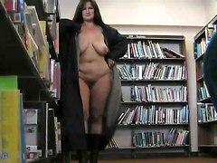 Bbw Lady Flashing In A Uk Libray