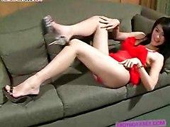 Ladyboy Milks Her Love Nectar