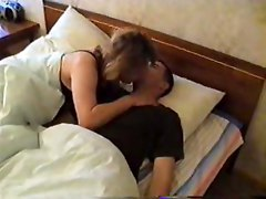 Son Comes To Moms Bed With Hard Cock