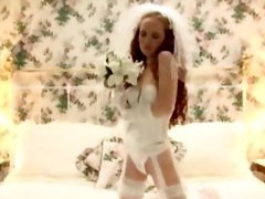 Redhead Teasing In Her Wedding Dress
