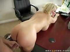Hot Office Blonde Getting A Good Fucking