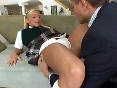 Blonde Schoolgirl Doing Her Step Dad