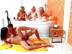 Littl3 Caprice With Her Friends